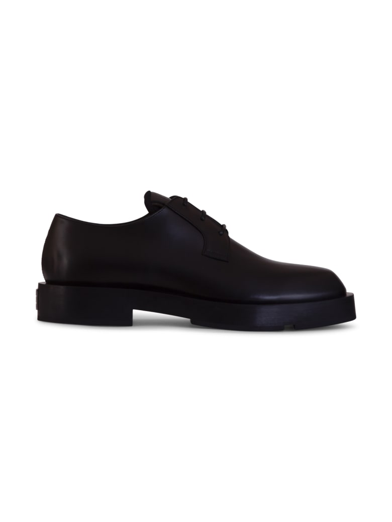 Givenchy Squared Leather Derby Shoes - NERO