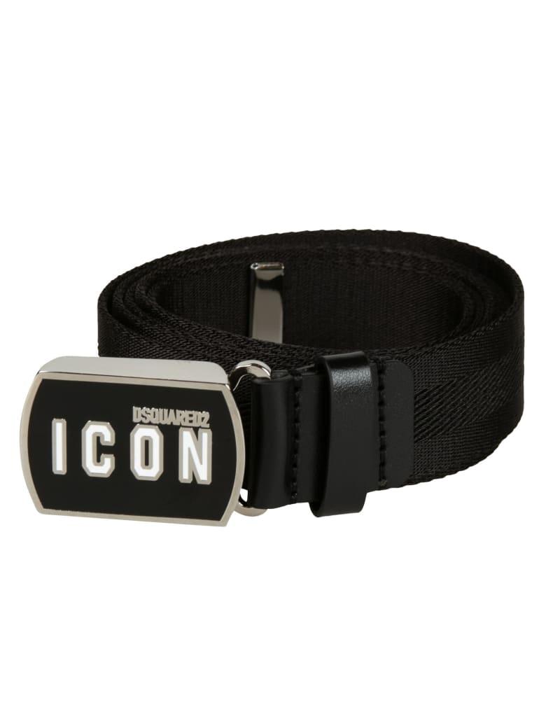 Dsquared2 Icon Buckled Belt - Black