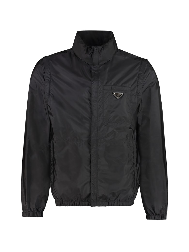 Prada Nylon Windbreaker-jacket - black