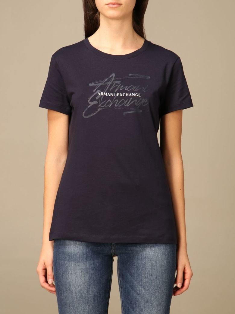 Armani Collezioni Armani Exchange T-shirt Armani Exchange Cotton T-shirt - Blue