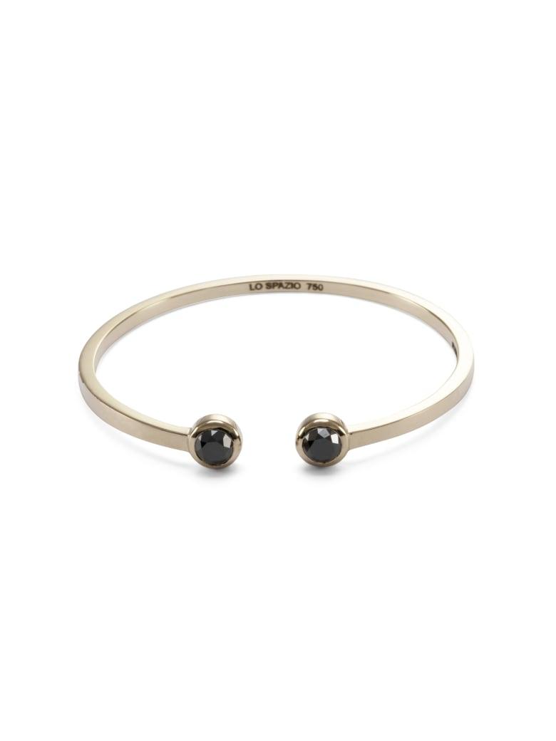 Lo Spazio Jewelry Lo Spazio Black Diamond Bangle - Black