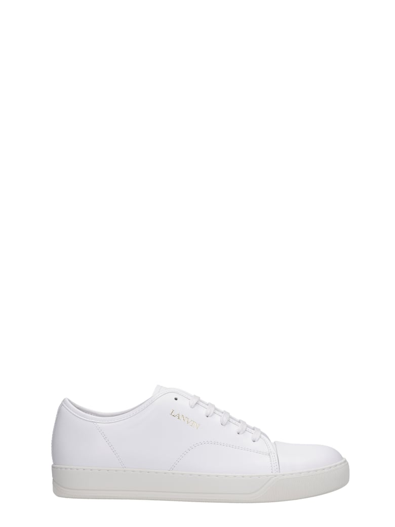 Lanvin Dbb1 Sneakers In White Leather - white