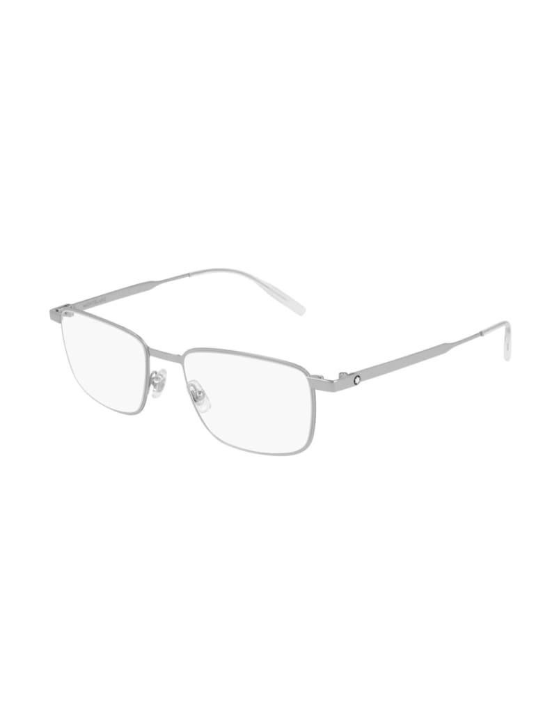 Montblanc MB0146O Eyewear - Silver Silver Transpa