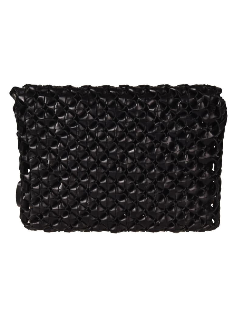 Saint Laurent Fringed Shoulder Bag - Black