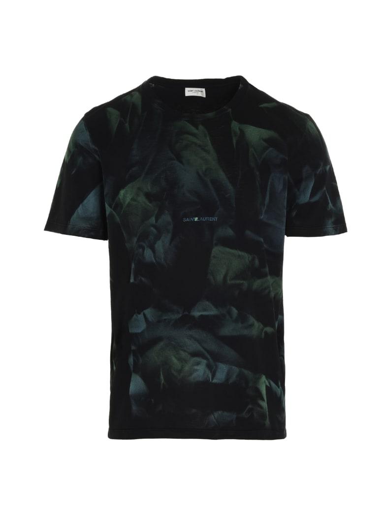 Saint Laurent 'jungle' T-shirt - Verde