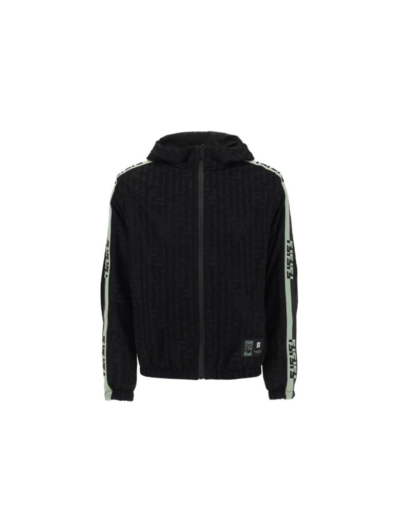 Fendi X K-way Windbreaker Jacket - Nero
