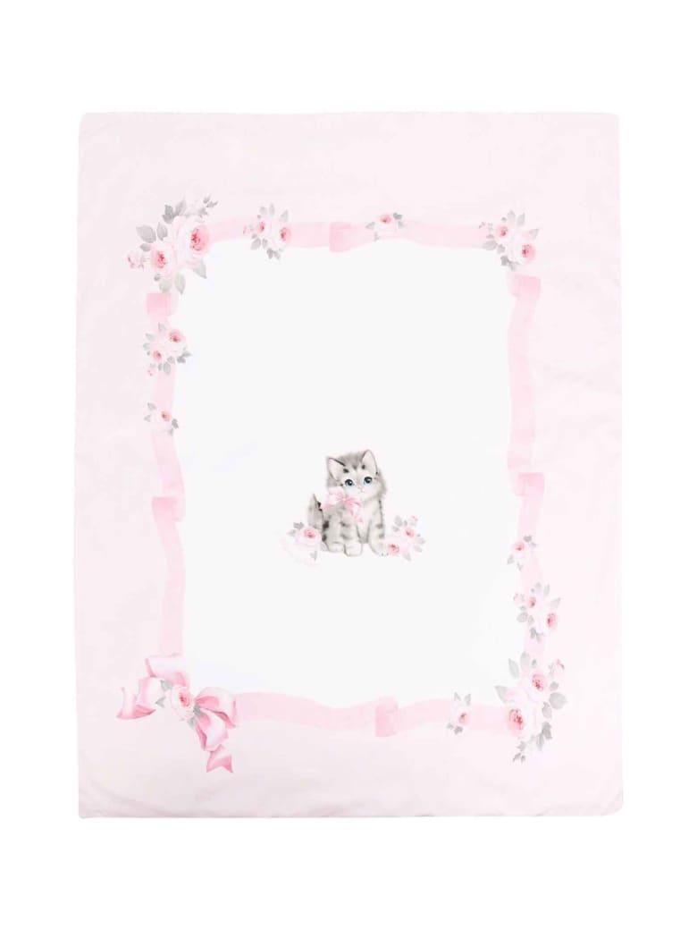 Monnalisa Pink Blanket - Panna/rosa