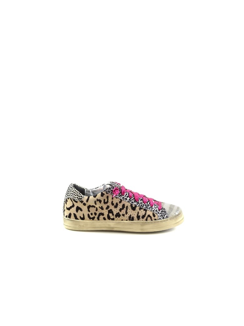 P448 Animal Print Color Block Women's Sneakers - Animal Print