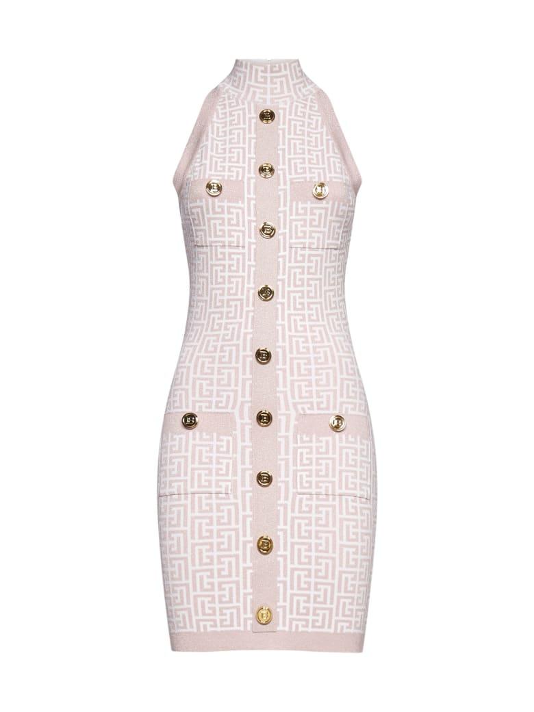 Balmain Dress - Blanc rose pale