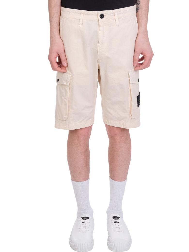 Stone Island Shorts In Beige Cotton - beige