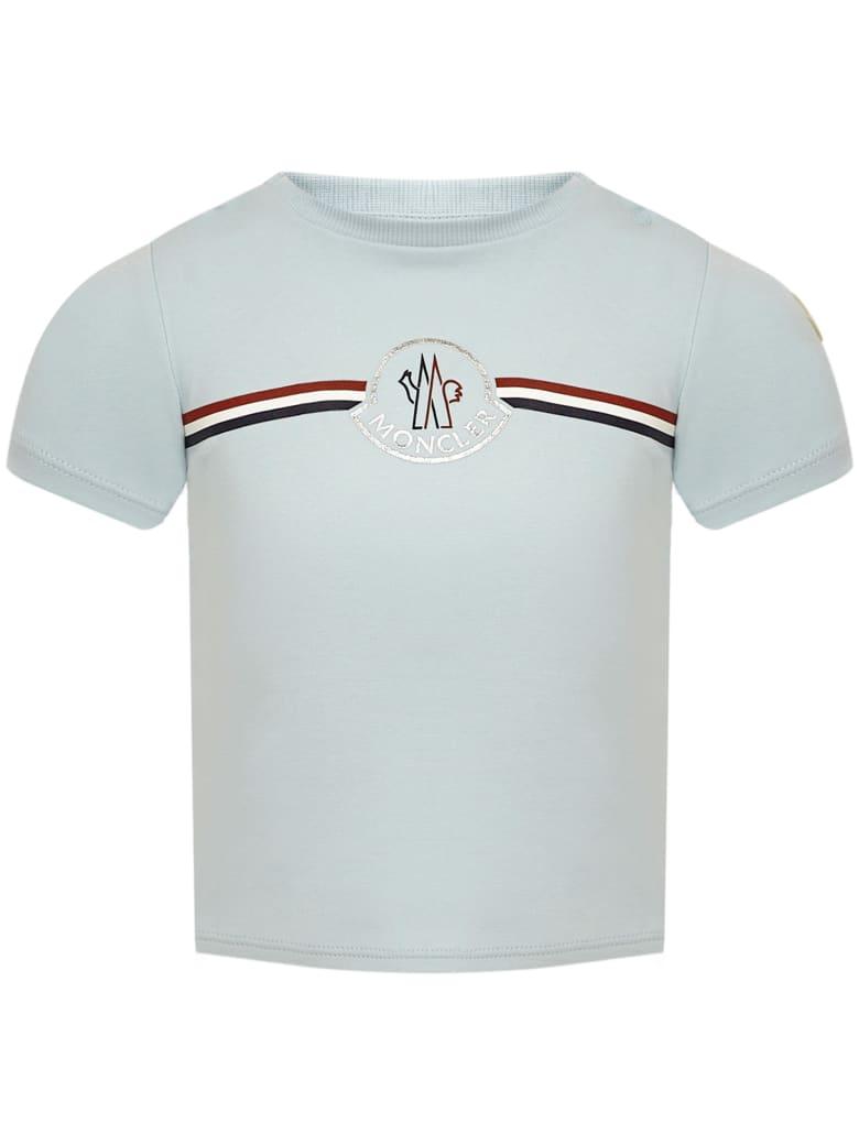 Moncler Enfant T-shirt - Light blue