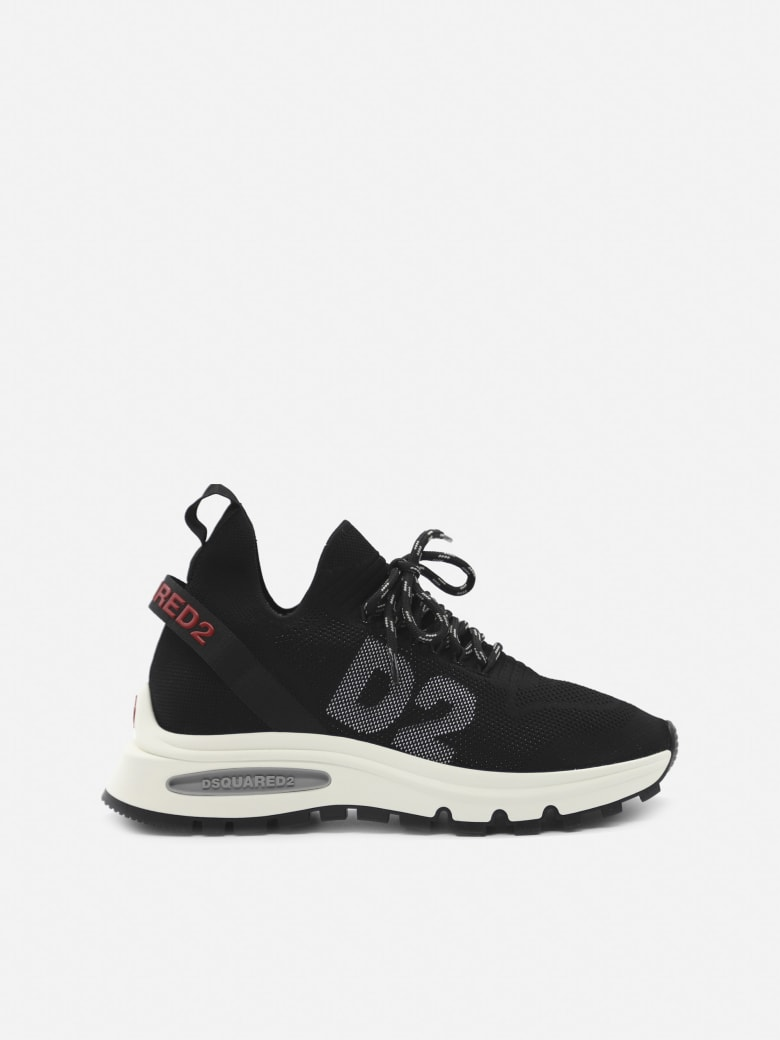 Dsquared2 Speedster Sneakers In Technical Fabric With Canadian Leaf Detail - Black