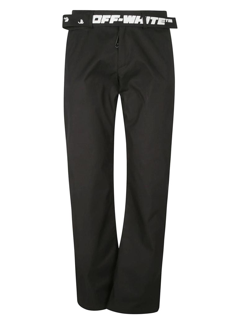 Off-White Straight Leg Plain Shorts - Nero e Bianco