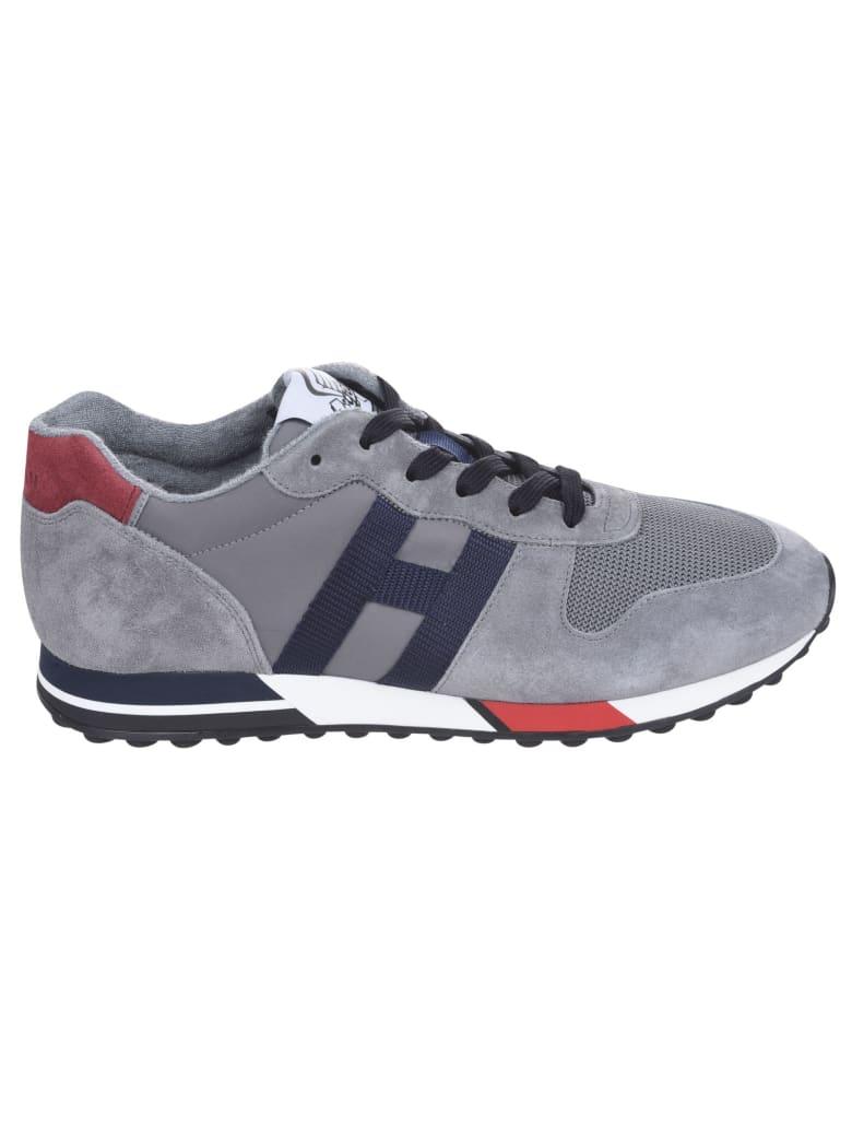 Hogan Mesh Panel Logo Sneakers - Grey