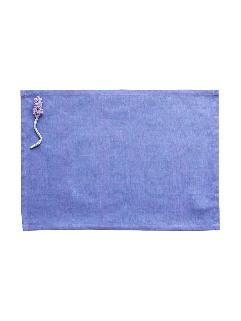 Le Botteghe su Gologone Placemats Crochet 35x45 Cm - Blueviolet