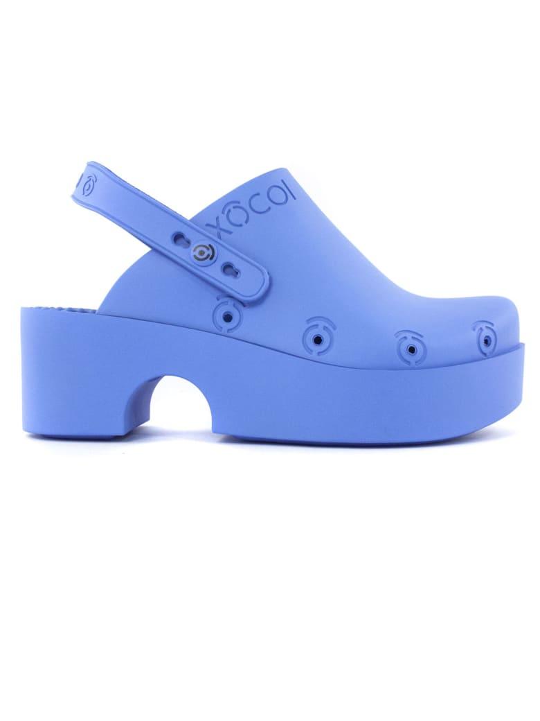 Xocoi Light Blue Glocs Sandals - Bluette