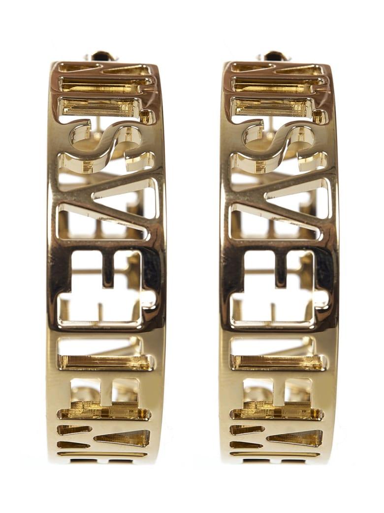 VETEMENTS Logo Hoop Earrings - GOLD