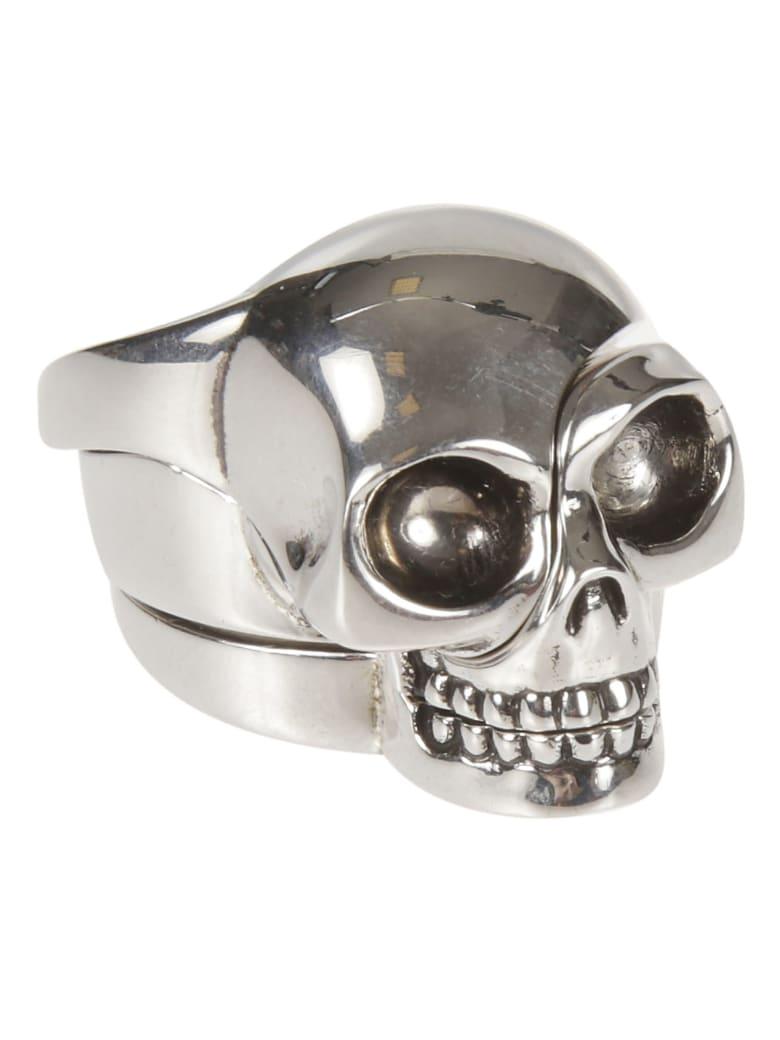 Alexander McQueen Divided Skull Ring - Argento