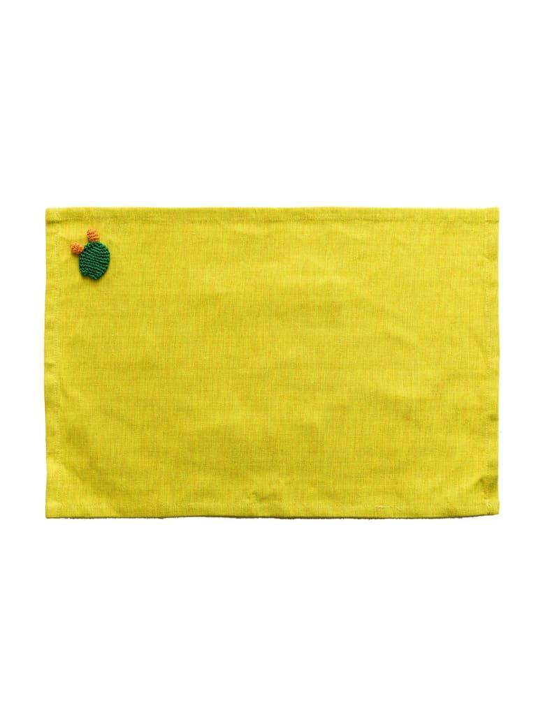 Le Botteghe su Gologone Placemats Crochet 35x45 Cm - Yellow