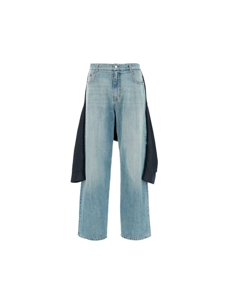 Balenciaga Jeans By Balenciaga - Blue/white stripe