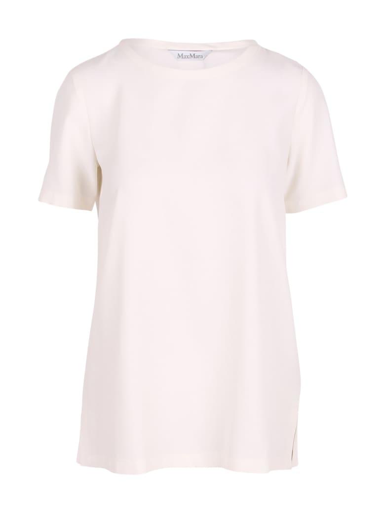 'S Max Mara 'oria' Silk T-shirt - White