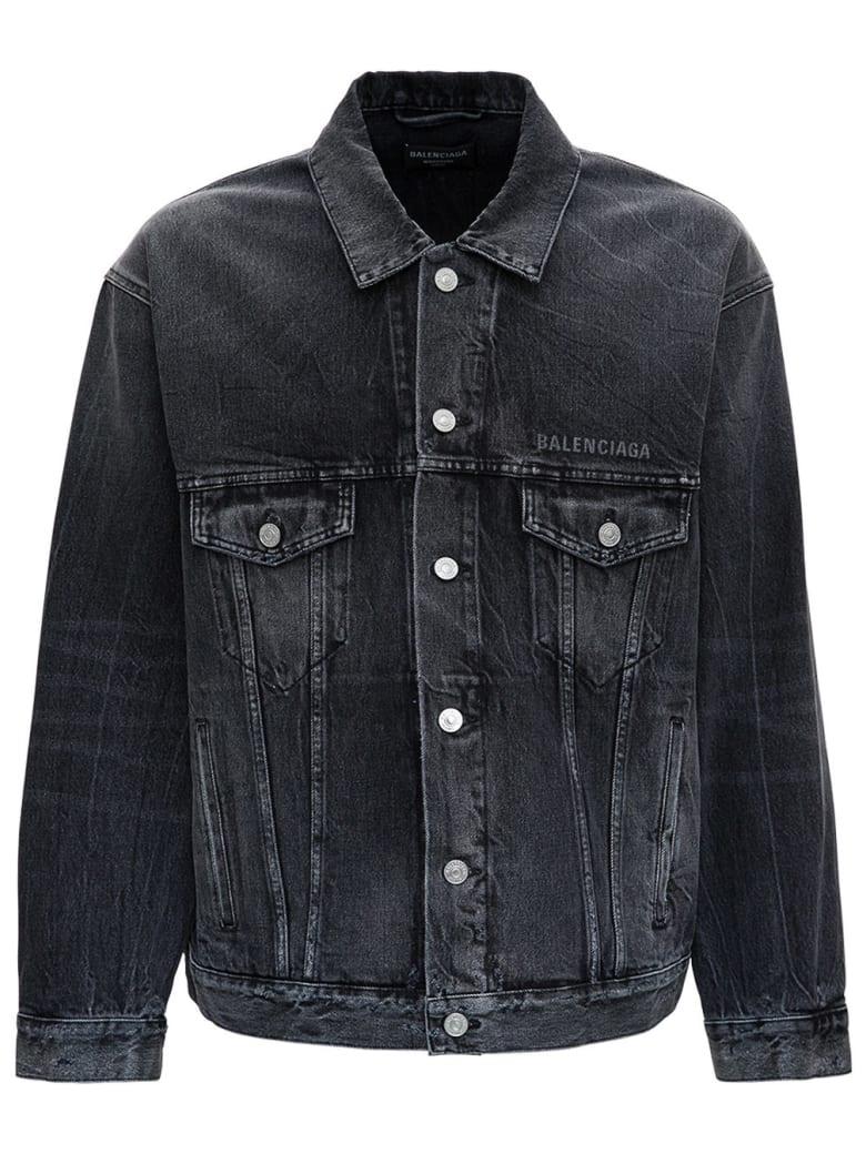 Balenciaga Trompe L'oeil Denim Jacket - Black