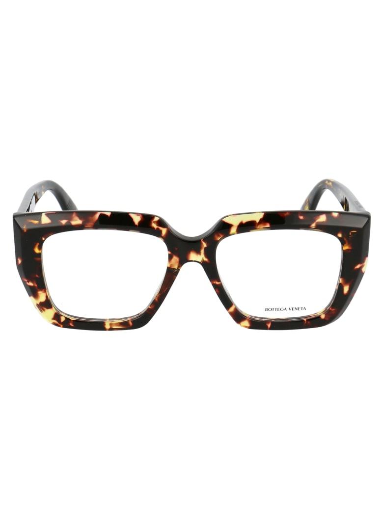 Bottega Veneta Bv1032o Glasses - 002 HAVANA HAVANA TRANSPARENT