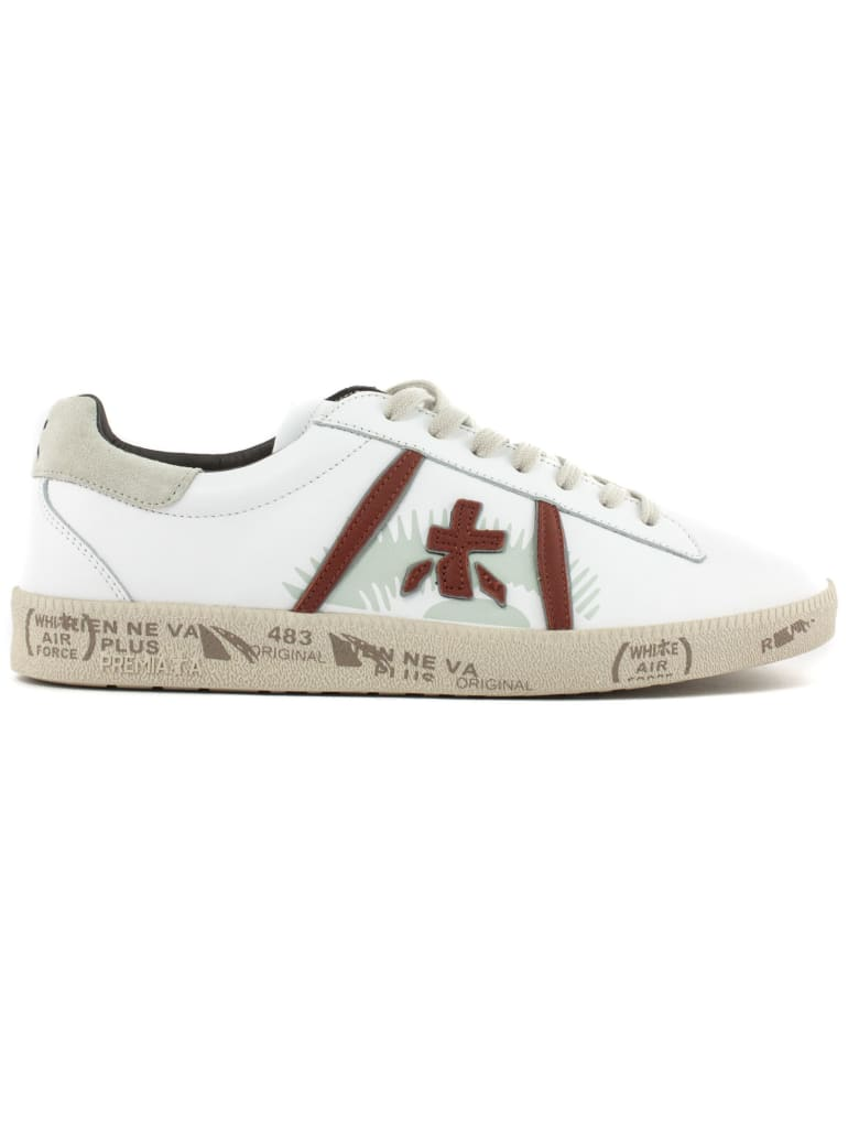 Premiata White Leather Andy Sneakers - Bianco