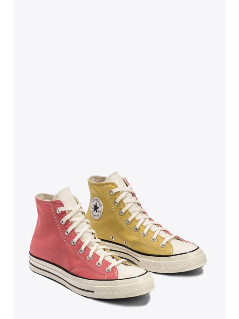 Converse Pink/yellow Bicolor Canvas Chuck 70 Sneaker - Rosa/giallo