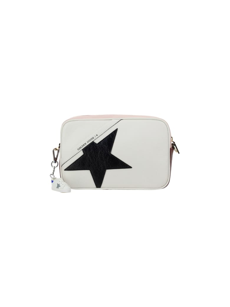 Golden Goose Hammered Star Bag - White/light pink/black/burgundy