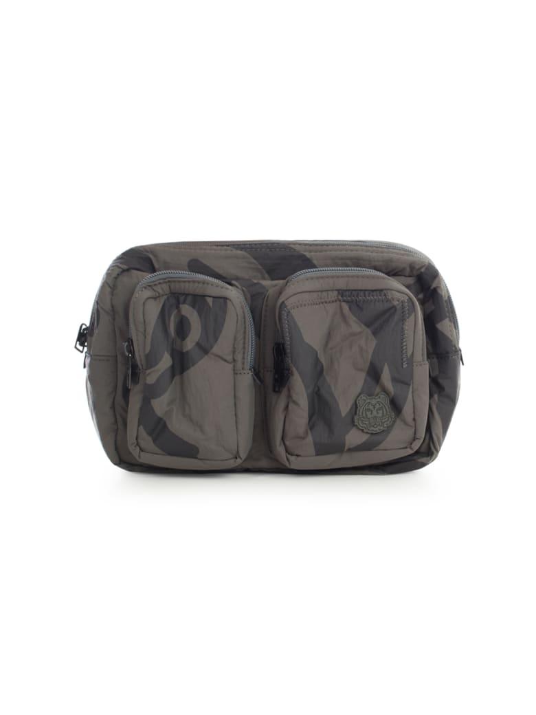 Kenzo K-tiger Line Thin Washed Nylon Belt Bag - Ardoise