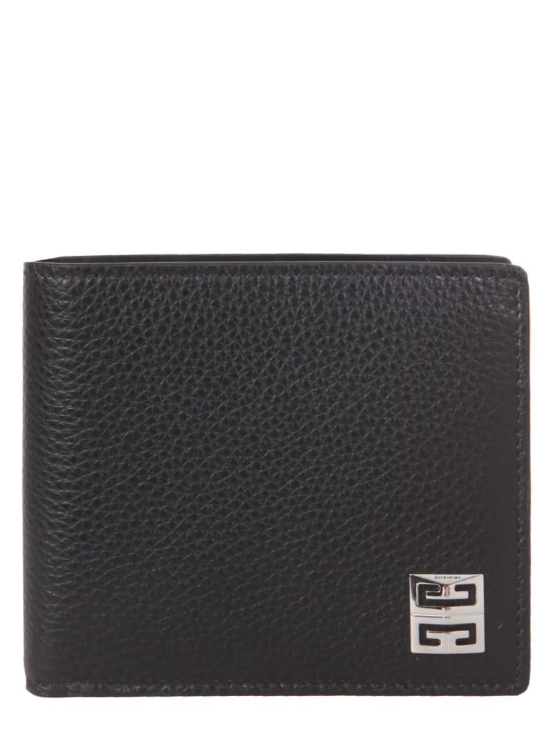 Givenchy Calf Grain Leather Bidold Wallet - Nero