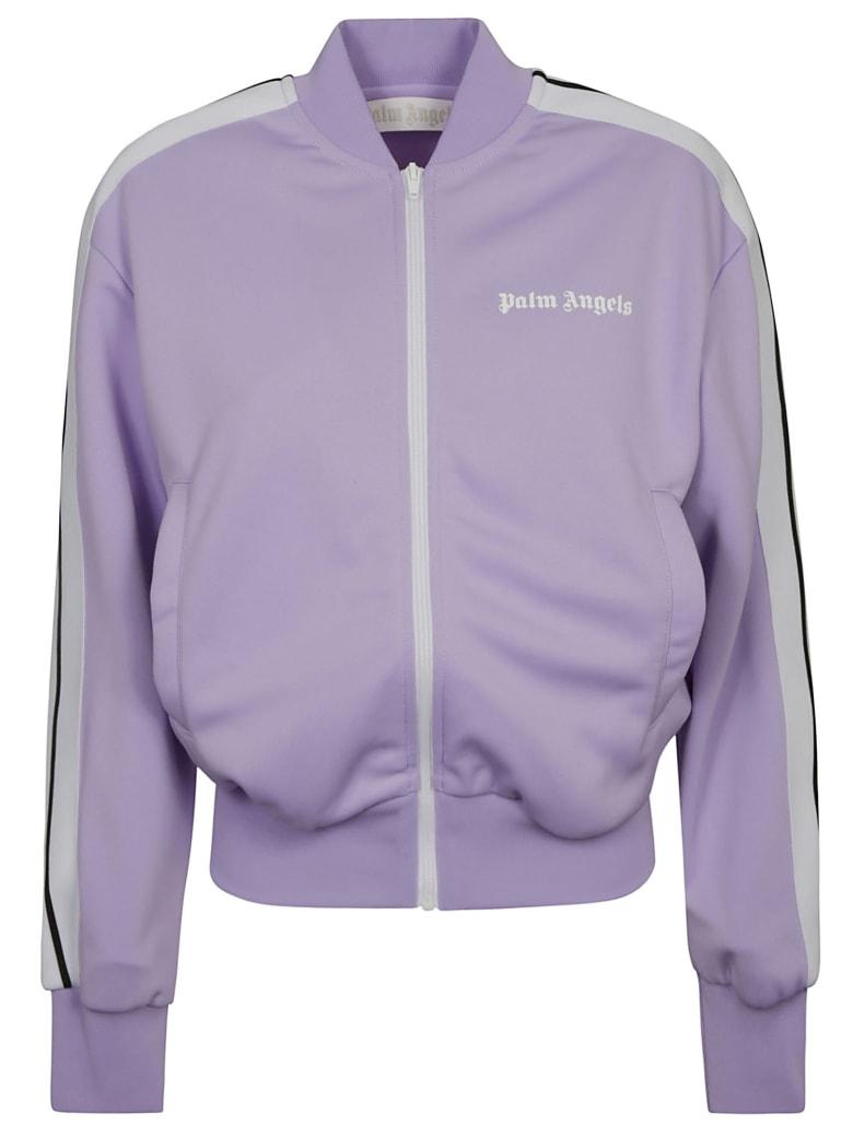 Palm Angels Regular Track Jacket Bomber - Lilac/White
