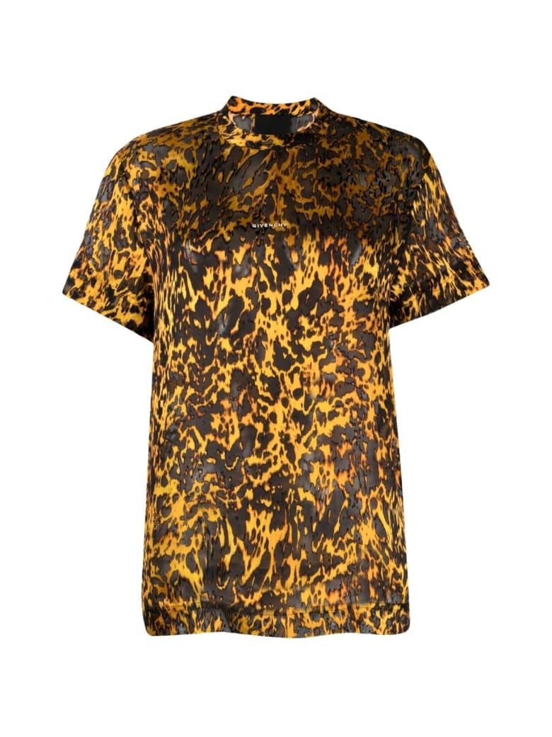 Givenchy Fantasy Crewneck T-shirt - Black Orange