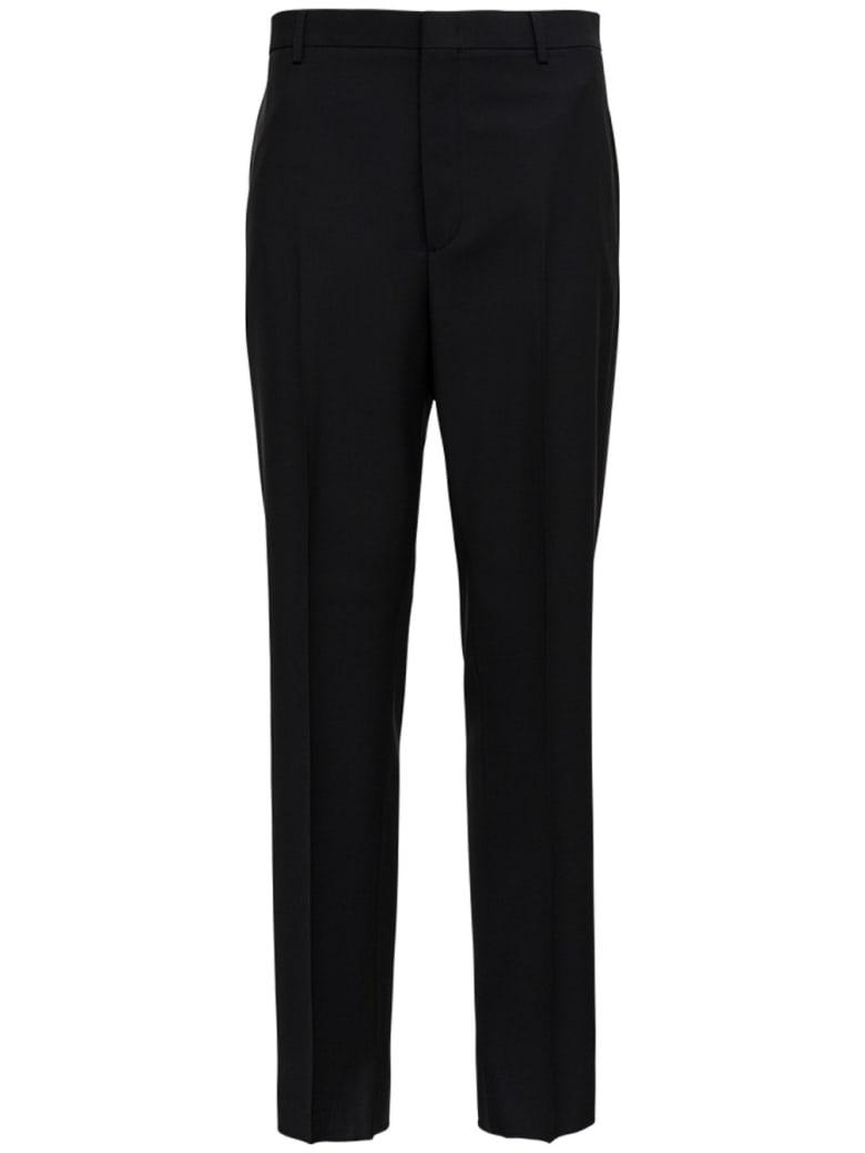 Valentino Black Mohair Wool Blend Pants - Black