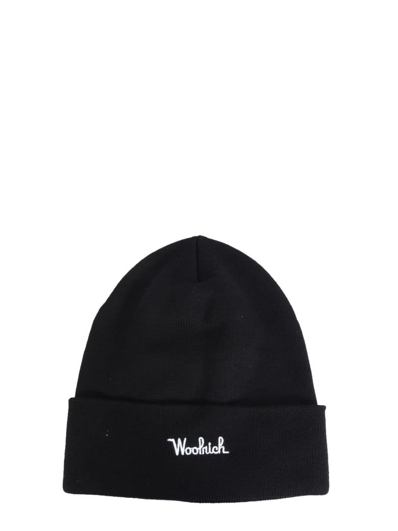 Woolrich Wool Beanie - NERO