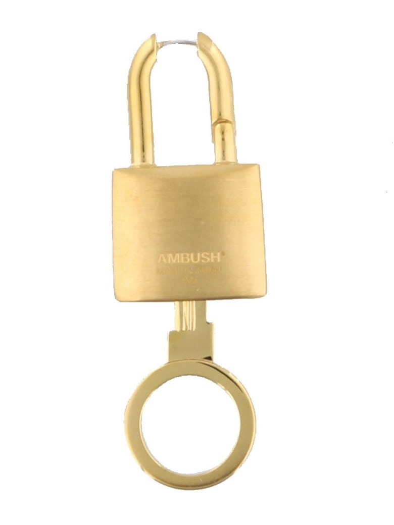 AMBUSH Lock Key Earrings - Gold