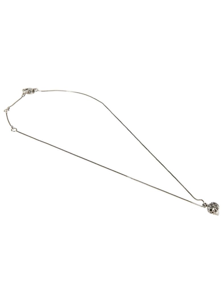 Alexander McQueen Skull Pendant Necklace - Argento