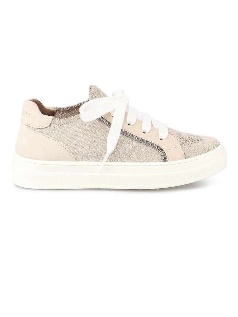 Brunello Cucinelli Beige Leather Sneakers - Tortora