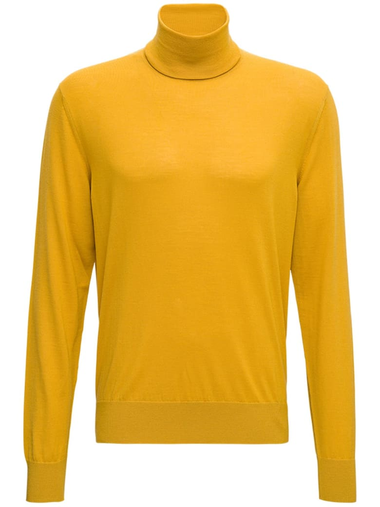 Dolce & Gabbana Yellow Wool Turtleneck - Yellow