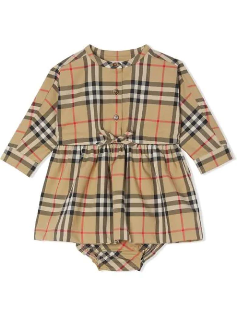 Burberry Archive Beige Cotton Dress - Check