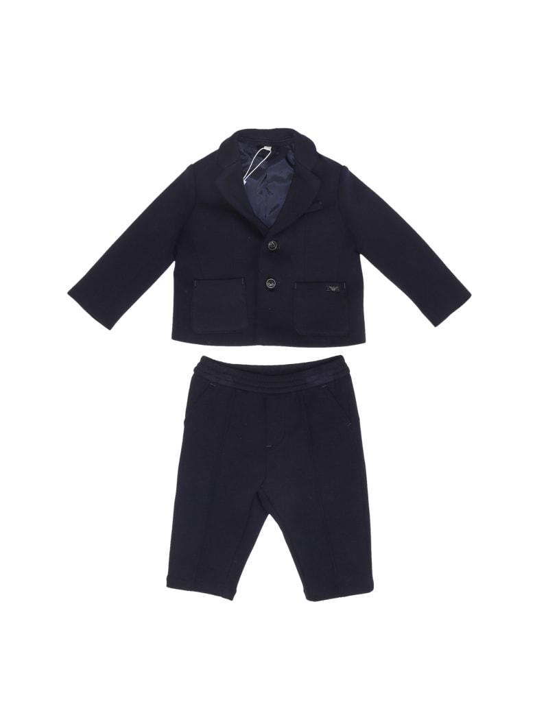 Emporio Armani Jersey Suit Suit - NAVY