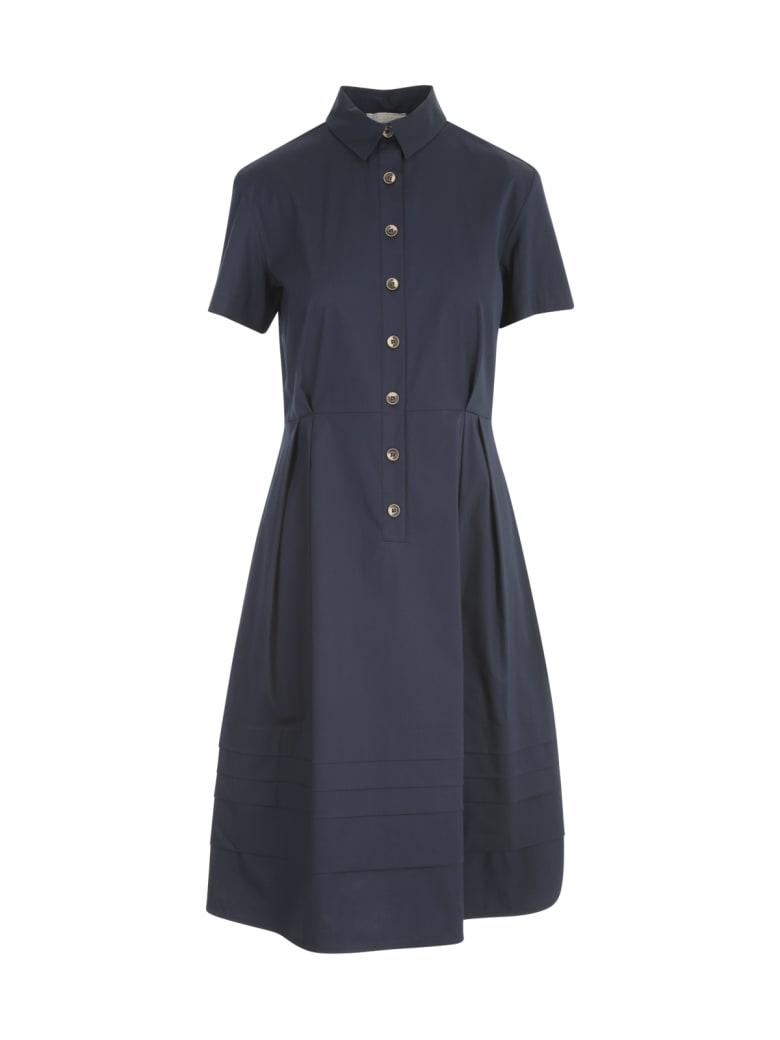 Antonelli Chemisier Dress W/flounce On Bottom (nb Prezzo) - Blue