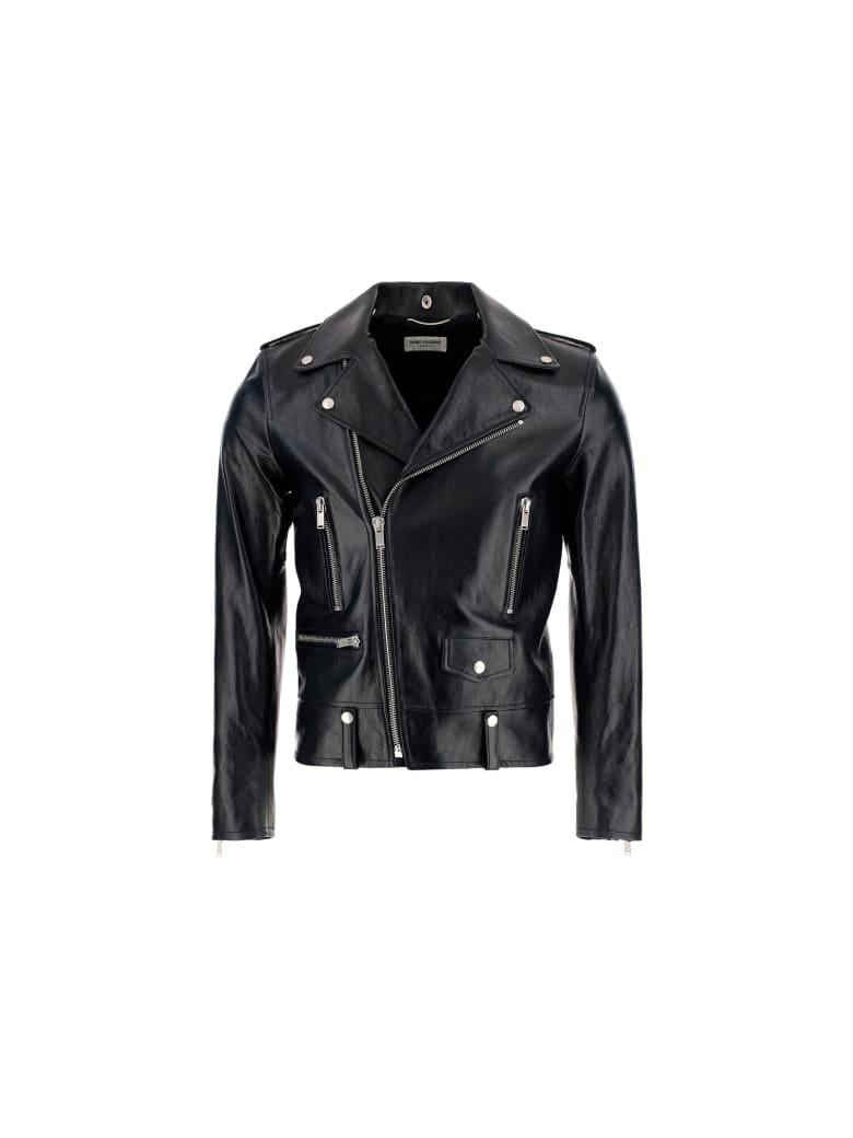 Saint Laurent Leather Jacket - Nero