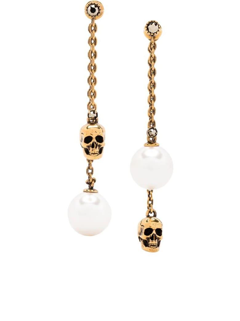 Alexander McQueen Pearly Skull Earring - Mix