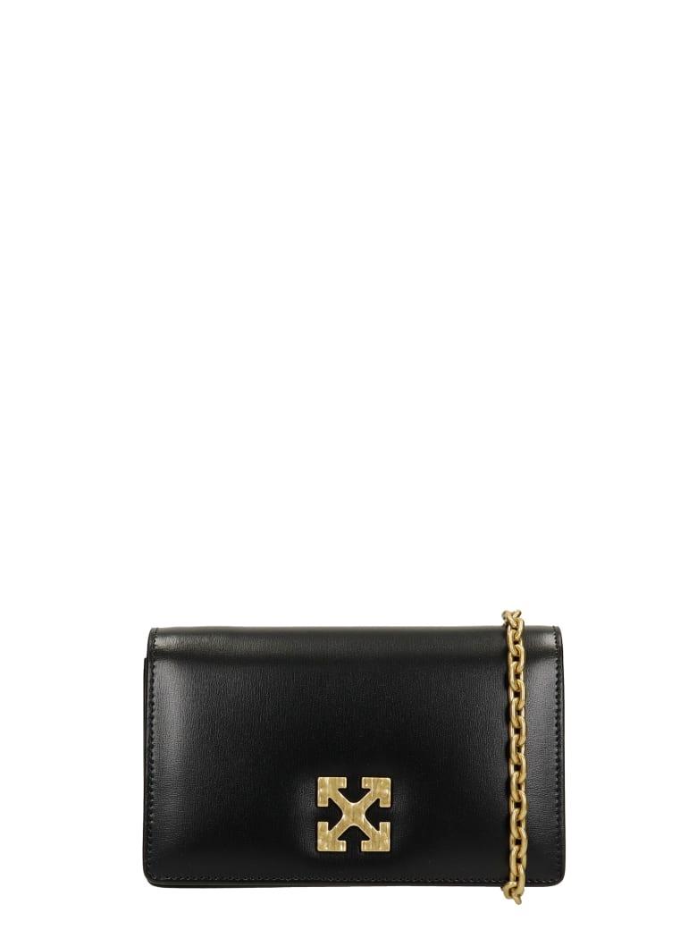 Off-White Shoulder Bag In Black Leather - black