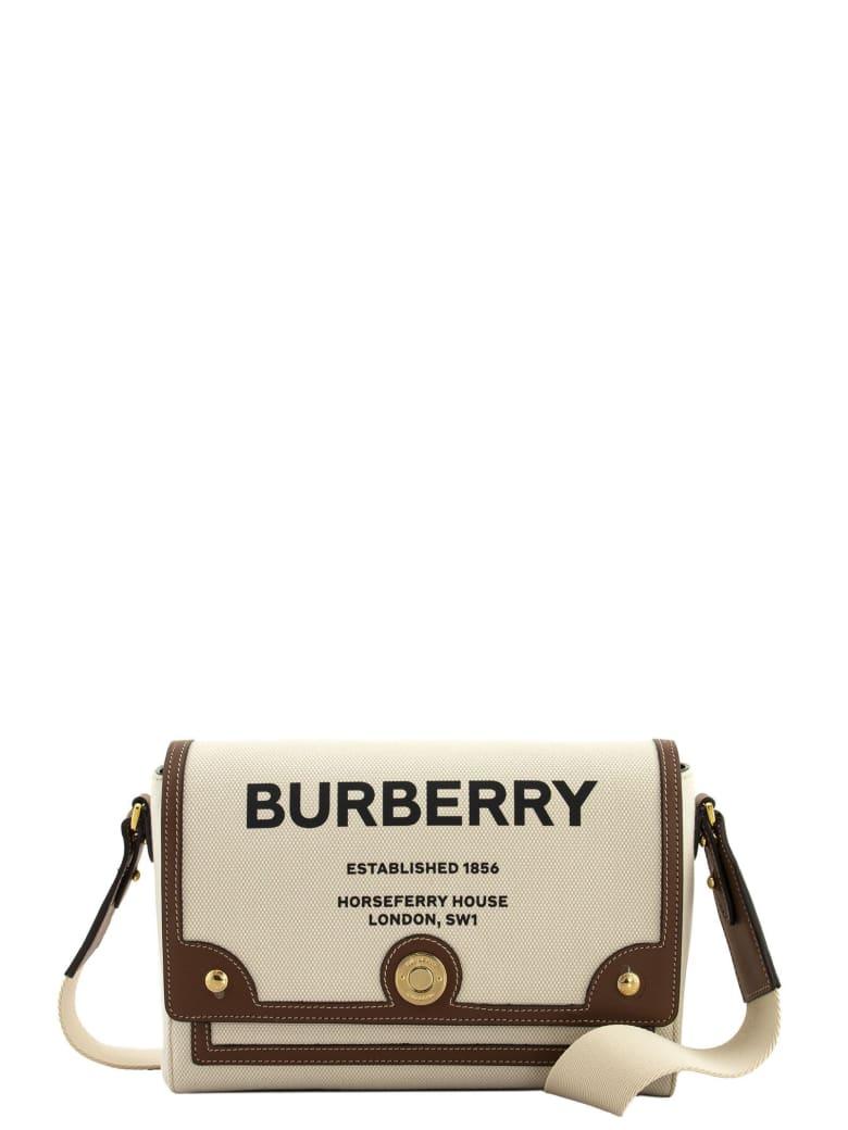 Burberry Note - Horseferry Print Canvas Crossbody Bag - Natural/tan