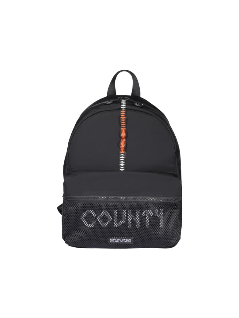 Marcelo Burlon County Tape Backpack - Black