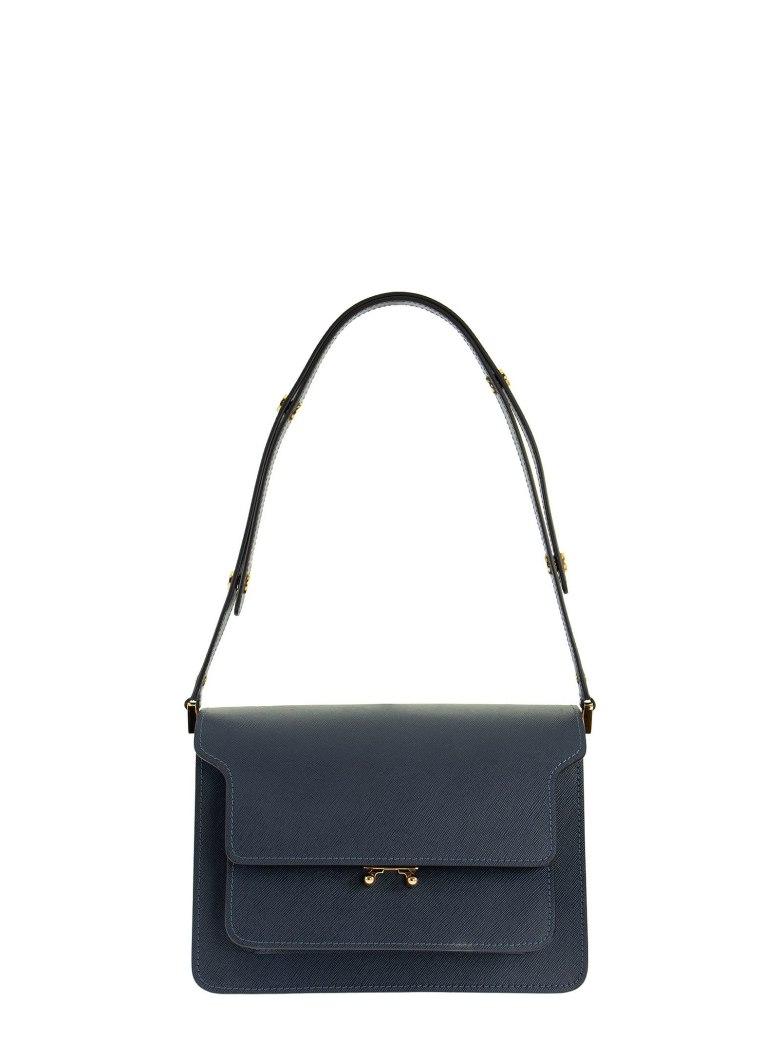 Marni Trunk Bag In Saffiano Calf - Blue