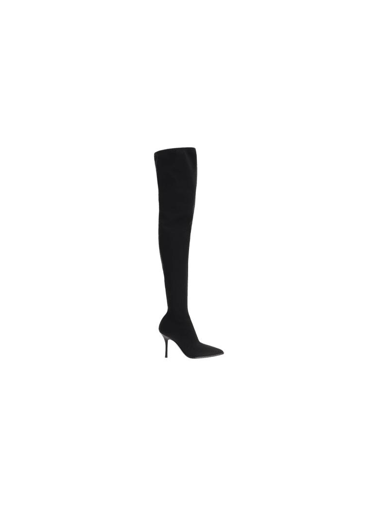 Paris Texas Mama Over The Knee Boots - Black